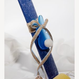 blue easter candle